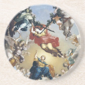 The Glorification of the government of Burgundy Coasters