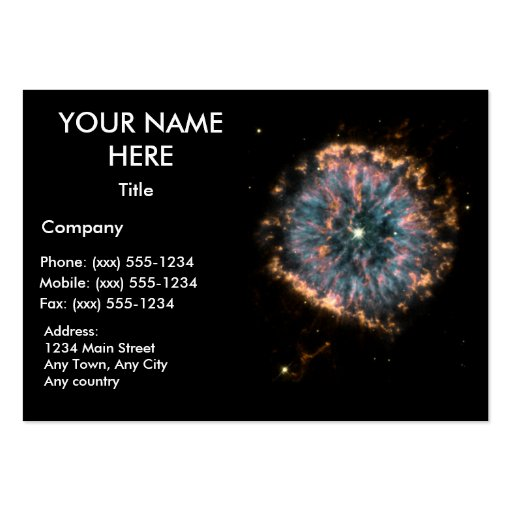 THE GLOWING EYE ~ BUSINESS CARD TEMPLATES