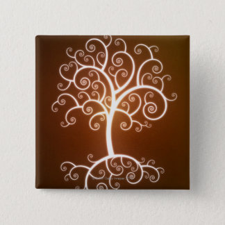 The Glowing Tree 15 Cm Square Badge