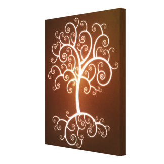 The Glowing Tree Canvas Print