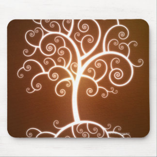 The Glowing Tree Mouse Mat