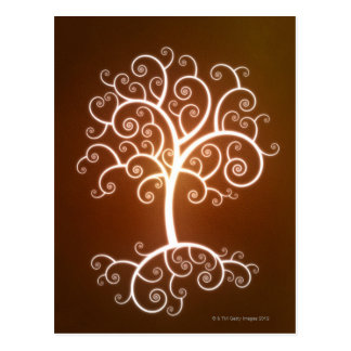 The Glowing Tree Postcard