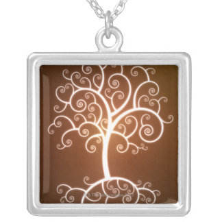 The Glowing Tree Silver Plated Necklace