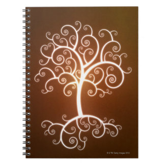 The Glowing Tree Spiral Notebook
