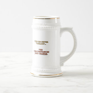 The GM Never Cheats Beer Stein