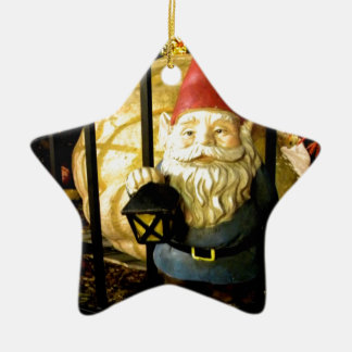 The Gnome and The Giant Double-Sided Star Ceramic Christmas Ornament