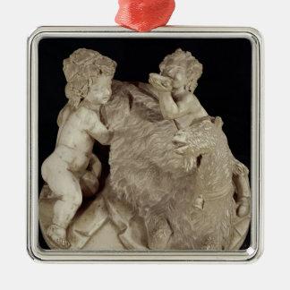 The Goat Amalthea, c.1615 Silver-Colored Square Decoration