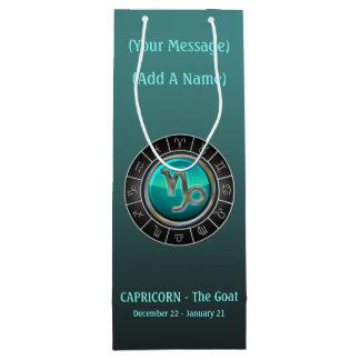 The Goat's Horoscope Symbol Wine Gift Bag