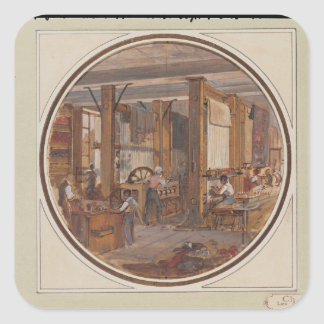 The Gobelins Workshop, 1840 Square Sticker