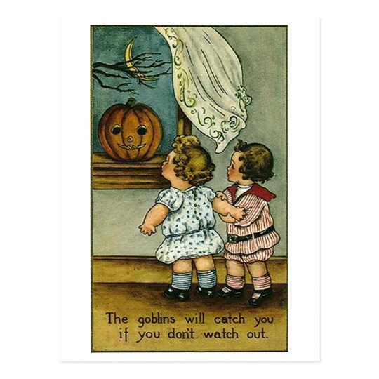 The Goblins Will Catch You Postcard