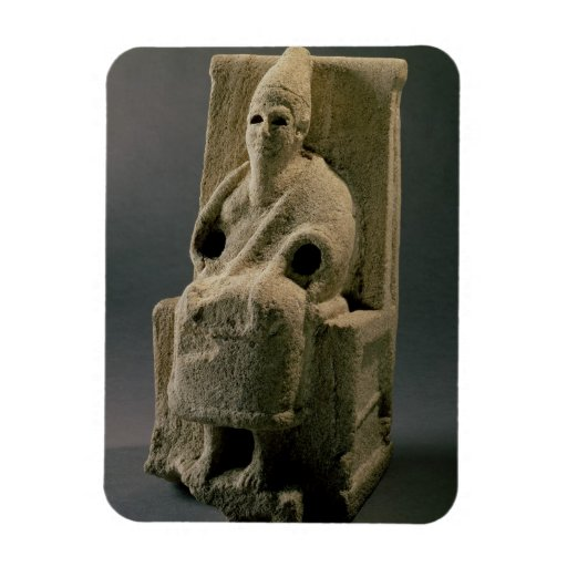 The god El, from Ugarit, 13th century BC (limeston Rectangle Magnet
