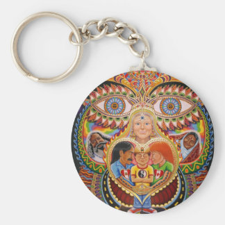 The God of Healing  Basic Round Button Key Ring