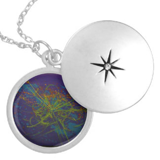 The God Particle Silver Plated Necklace