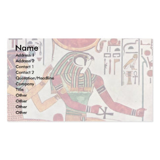 The God Re-Harakleti Amentit And The Goddess Of Th Double-Sided Standard Business Cards (Pack Of 100)