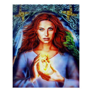 The Goddess Brigit by Lisa Iris Poster