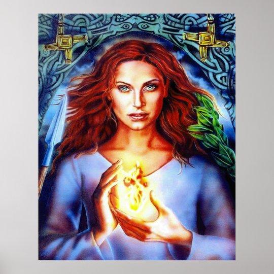 The Goddess Brigit by Lisa Iris Poster