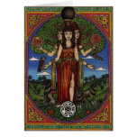 the goddess hecate (image and synbols) 001 t, gift greeting card