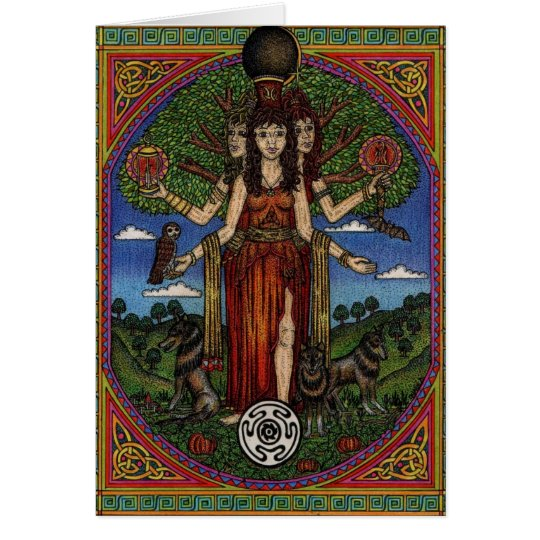 the goddess hecate (image and synbols) 001 t, gift card