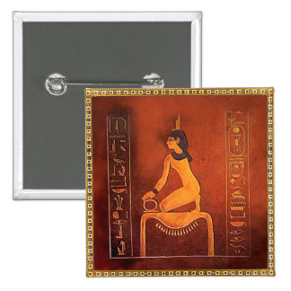 The Goddess Isis 15 Cm Square Badge
