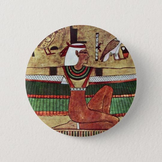 The Goddess Isis,  By Ägyptischer Maler Um 1360 V. 6 Cm Round Badge