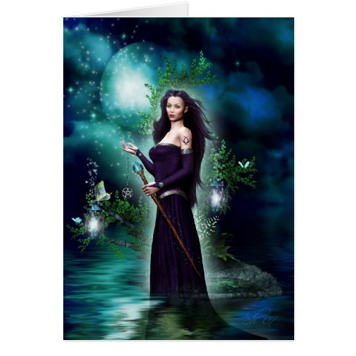 The Goddess of the Night Greeting Cards