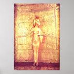The goddess Selket on the canopic shrine Poster