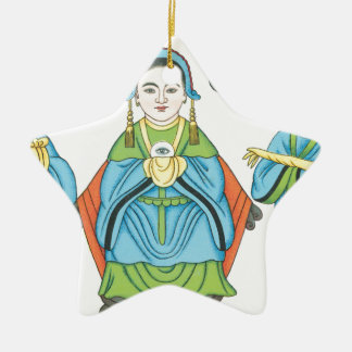 The Goddess that cures eye diseases Ceramic Star Decoration