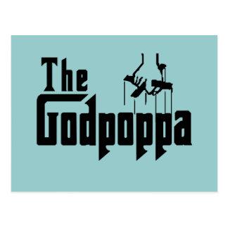 The Godpoppa Fun Father's Day Apparel Postcard