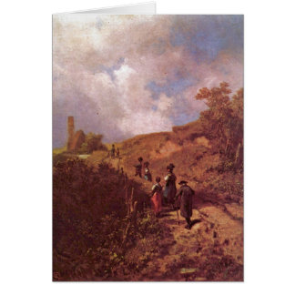 The Going To Church By Carl Spitzweg Card