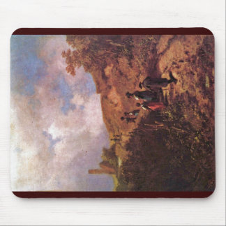 The Going To The Church By Spitzweg Carl Mousepad