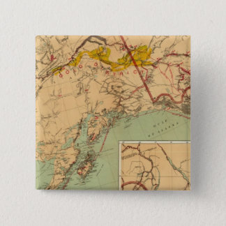 The Gold and Coal Fields of Alaska 15 Cm Square Badge