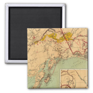 The Gold and Coal Fields of Alaska Square Magnet