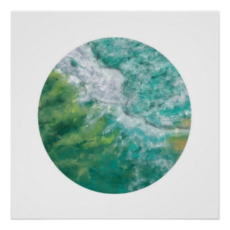 The Gold Coast Ocean (Zen Circle) Poster