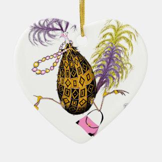 The Gold Diamond Fab Egg, tony fernandes Ceramic Heart Decoration
