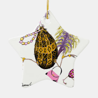 The Gold Diamond Fab Egg, tony fernandes Ceramic Star Decoration