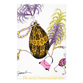 The Gold Diamond Fab Egg, tony fernandes Stationery