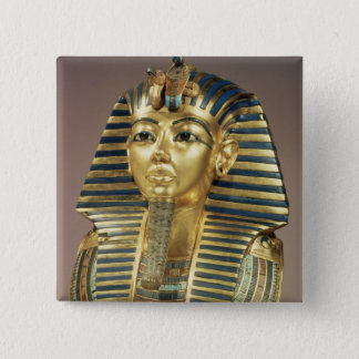 The gold funerary mask, from tomb of 15 cm square badge