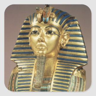 The gold funerary mask, from tomb of square sticker