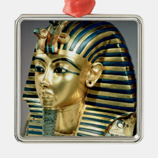 The gold funerary mask, from tomb of Tutankhamun Christmas Ornament