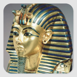 The gold funerary mask, from tomb of Tutankhamun Square Sticker