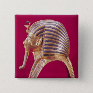 The gold mask 15 cm square badge