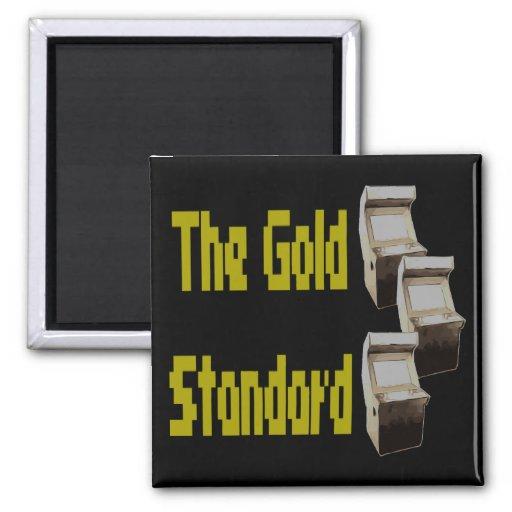 The gold standard arcade refrigerator magnets