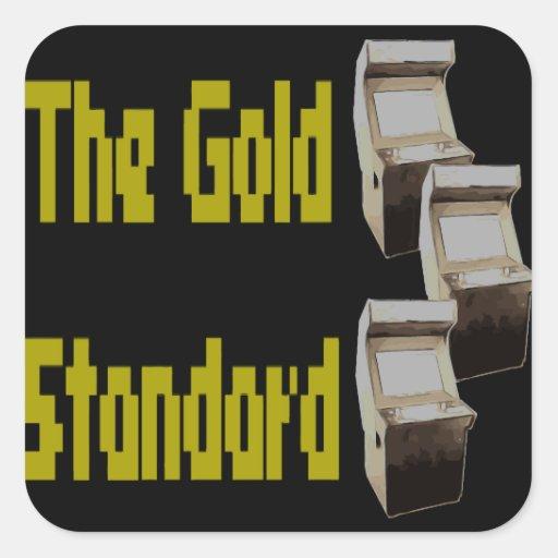 The gold standard arcade square sticker
