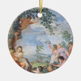 The Golden Age (fresco) Round Ceramic Decoration