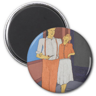 The Golden Age Of Bliss 6 Cm Round Magnet