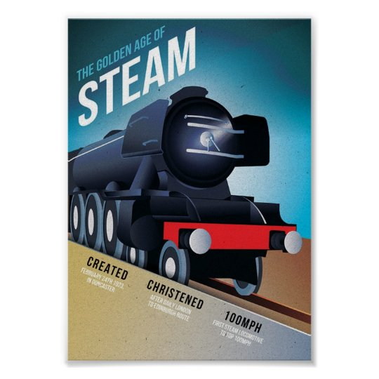 The golden age of steam vintage train art