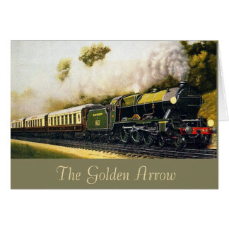 The Golden Arrow - Train Greeting Card