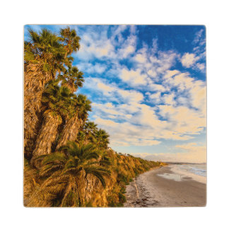 The golden California coastline Wood Coaster