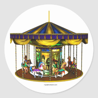 The Golden Carousel Round Stickers