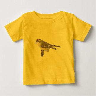 The Golden-crested Kinglet	(Regulus satrapa) Baby T-Shirt